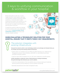 IT tip sheet for clinical mobility